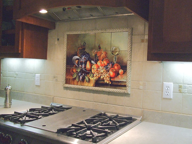 tile murals for kitchen kitchen backsplash tile mural antique still kitchen 6172