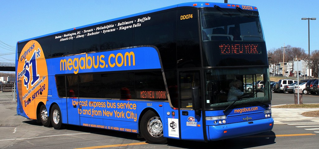 megabus albany ny depew clarence new york state thruway bu flickr. Black Bedroom Furniture Sets. Home Design Ideas