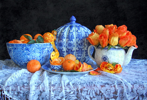 Tangerines and Roses | by linda yvonne