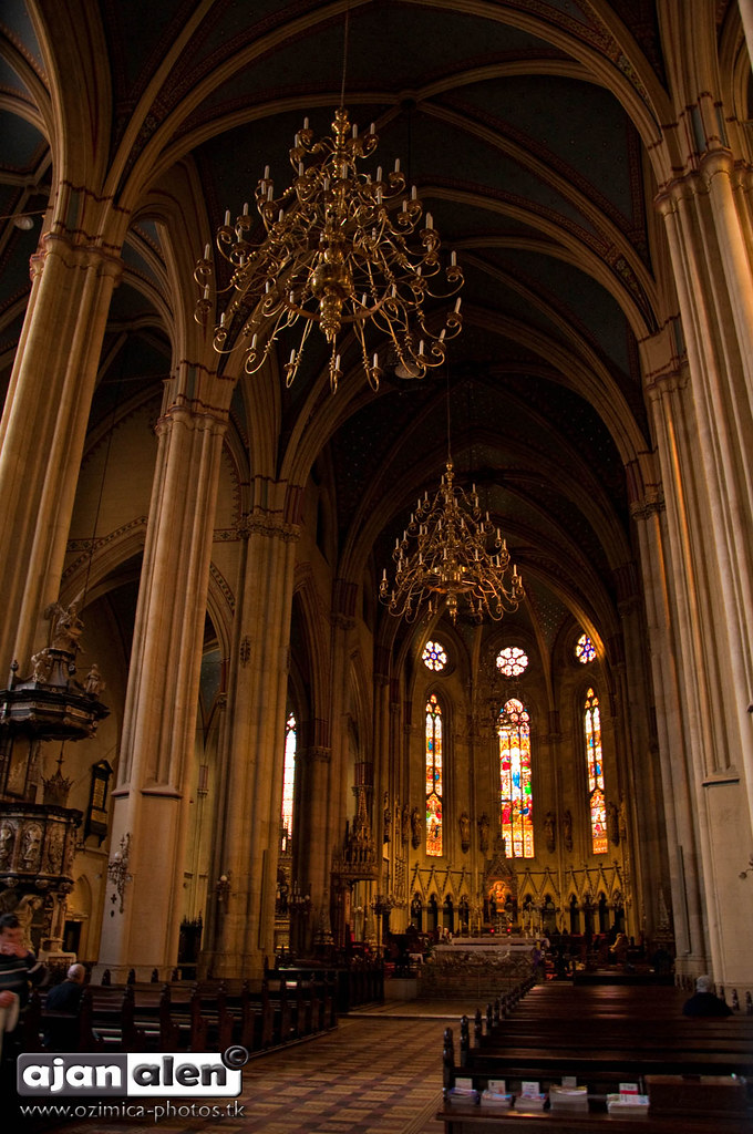 Neo Gothic Architecture Of Cathedral Interior