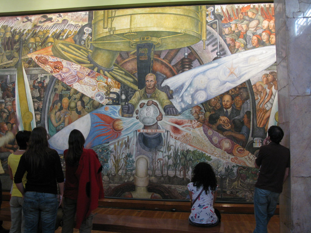 this mural by diego rivera was rejected by the rockefeller