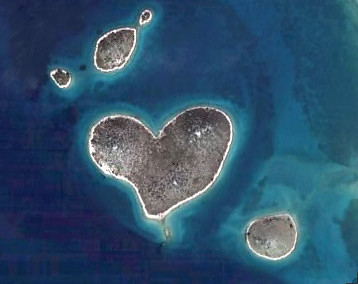 love heart shaped №5 - (island), Galesnjak, Croatia,  just south of Zadar; it is just 1/2 kilometre at its widest point and can only be reached by boat. | by shay_number823