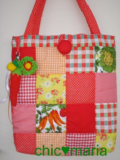 Ecobag... o primeiro patchwork!!! | by chic♥maria