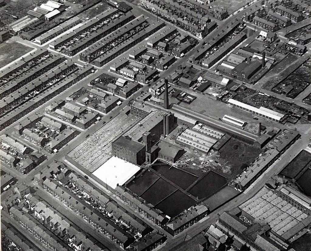 Ribbleton Mill Complex, Preston. Aerial Image