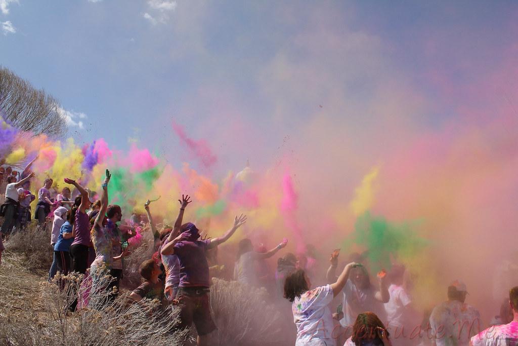 Holi Festival Of Colors Utah 2010 Start Of Haze Flickr