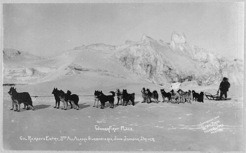 Col. Ramsay's entry, winning dog sled team of the 3rd All Alaska Sweepstakes, John Johnson, driver (LOC) | by The Library of Congress