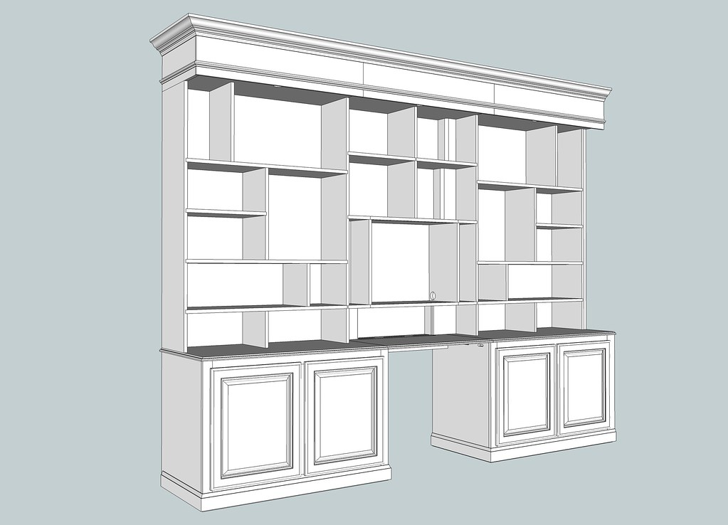 Bookcase detail i updated my sketchup document to for Large bookcase plans