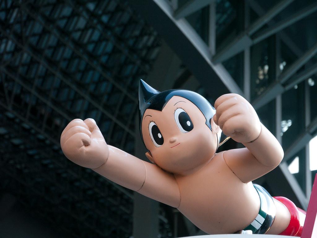 Astro Boy bei der Kyoto Station | Foto von neekoh.fi