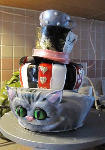 Alice In Wonderland Tim Burton Style Birthday Cake For