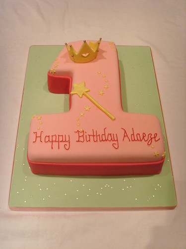 Princess Themed Number One Cake Princess Themed Number ...