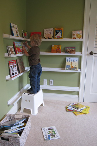 arranging books | by Kirsten W