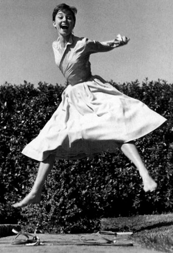 "Audrey Hepburn in ""The Jump Book"" by Philippe Halsman 