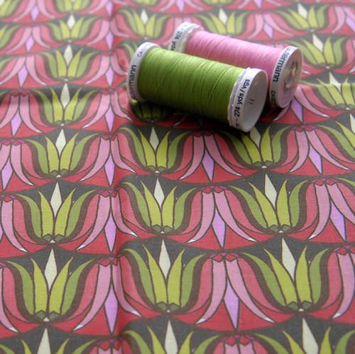 Tissu fleur art d co d tail tissu motif fleur art - Tissu ameublement art deco ...