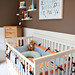 Aqua/Brown/Orange Boy's Nursery Design