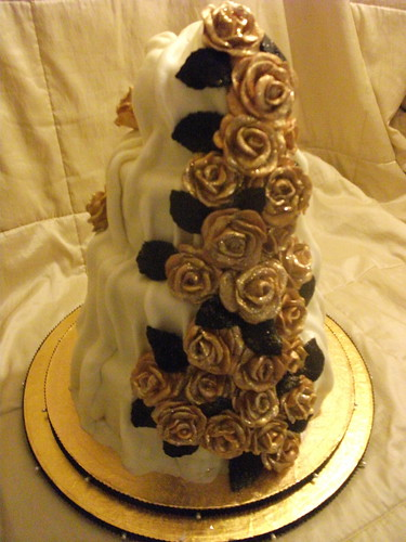 chocolate brown and gold wedding cakes white chocolate wedding cake 4 tier cake 1st tier 12689