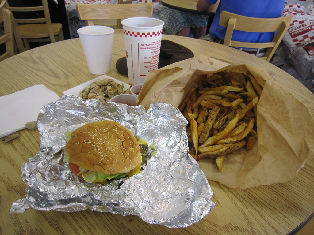 Little Bacon Cheeseburger And Five Guys Fries By Juralms