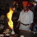 Flaming onion Volcano at Musashi Restaurant in Porter Ranch, California