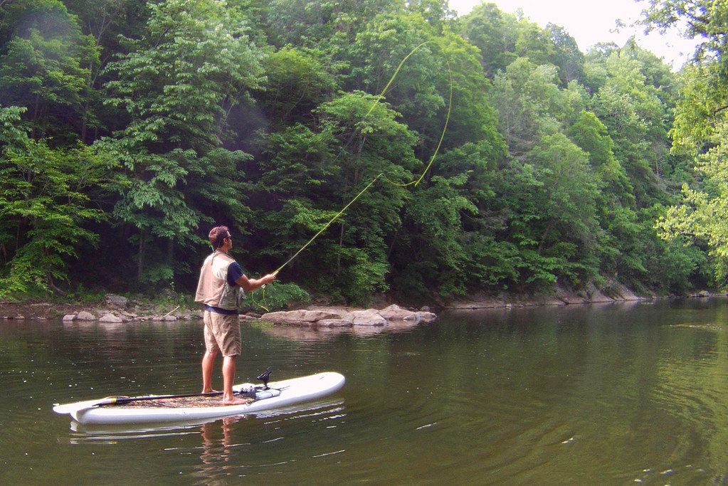 Fly fishing from the best fishing sup and kayak big for Best fishing sup