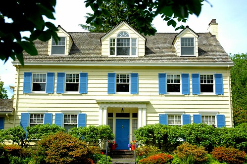 Yellow House Blue Shutters | The Better Interior Design Ideas
