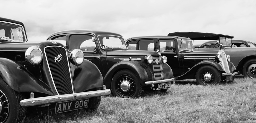 Vintage cars in black and white by macieklew