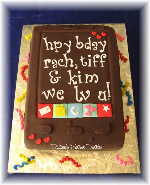 Cell Phone Cake With Text Message
