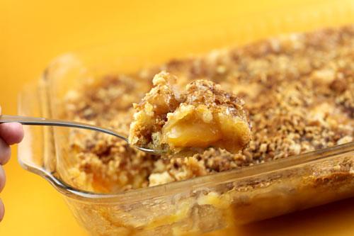 Peach Crunch Cake Mix