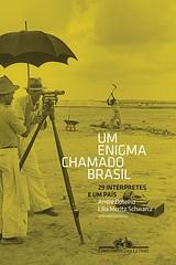 """""""Um Enigma Chamado Brasil"""" Book Cover - A capa não é minha, é que adorei a fonte! (this cover is not mine, I just loved the fonts used!) by Matheus D."""