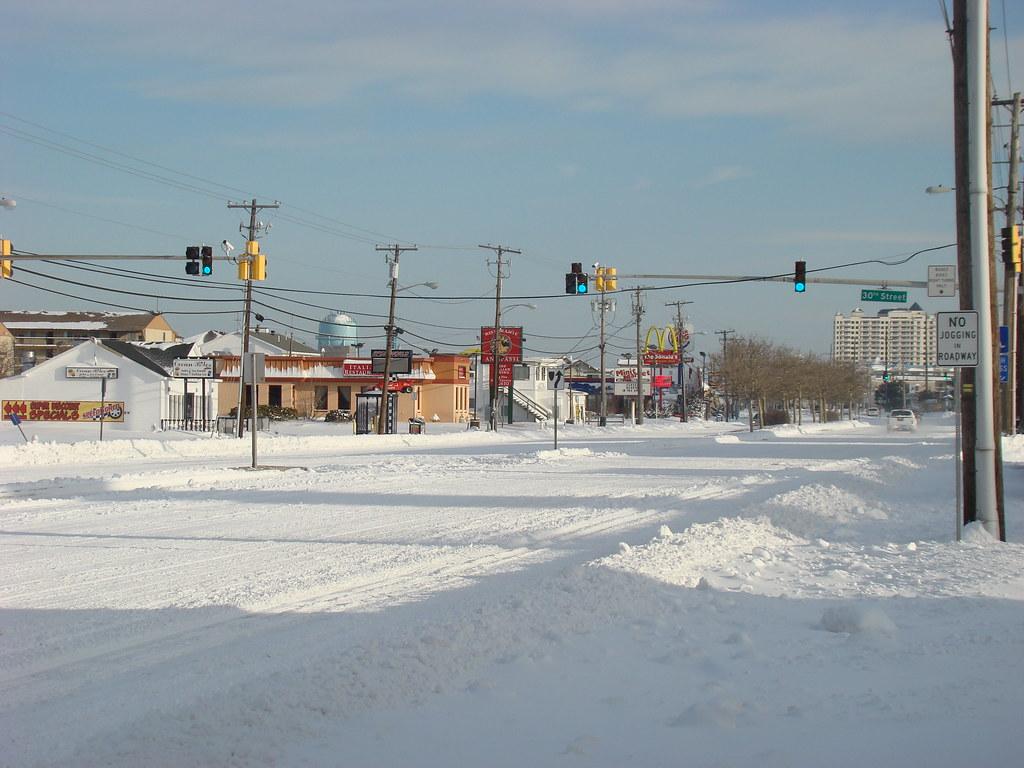 Ocean City Md Snow On Boardwalk