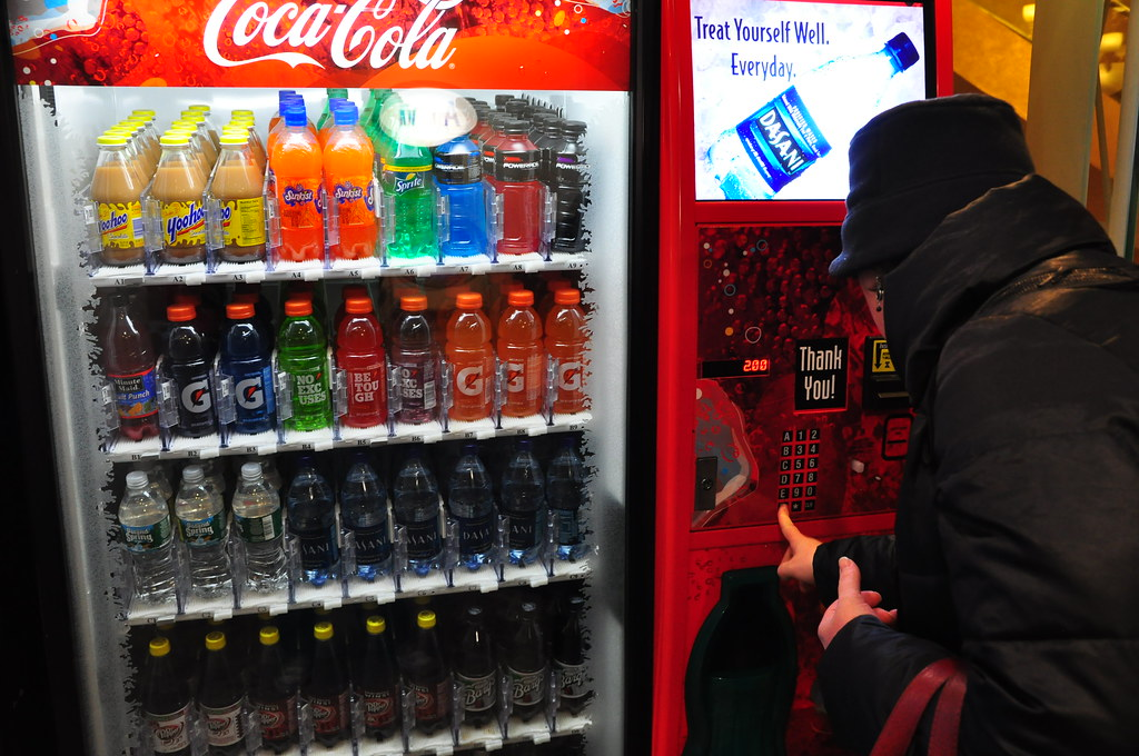 Panasonic Mj L500sxc Slow Juicer With Frozen Sorbet Attachment : Yoo-hoo vending machine! Karen Blumberg Flickr