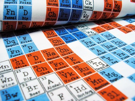 periodic table fabric by the two windmills - Periodic Table Fabric