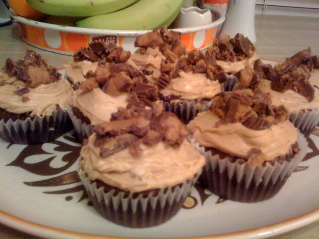 Brownie cupcakes with peanut butter frosting | Flickr - Photo Sharing!