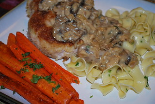 Porkchops with Mushroom Bourbon Cream Sauce | by UrbanAprons
