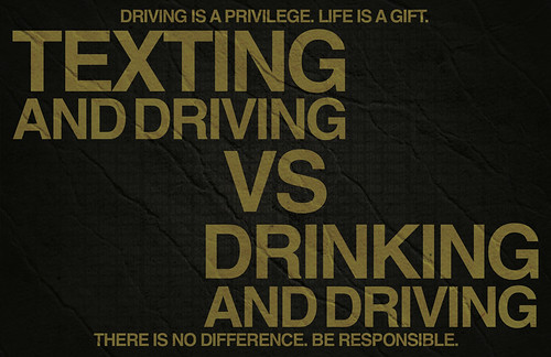 texting and driving vs drinking and Facts & statistics about texting & driving  this young group also is more likely to drink while driving or ride with other drivers who have been drinking,.