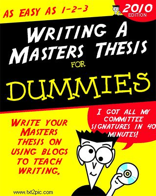 Writing your masters thesis