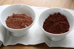 two cocoa powders | by David Lebovitz