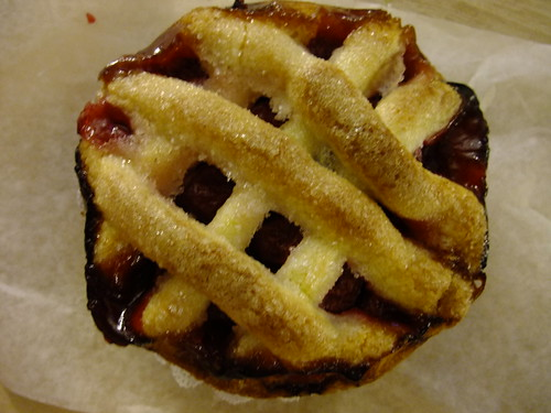 Cherry Mini-Lattice Pie from Elizabethan Desserts | by cgfan