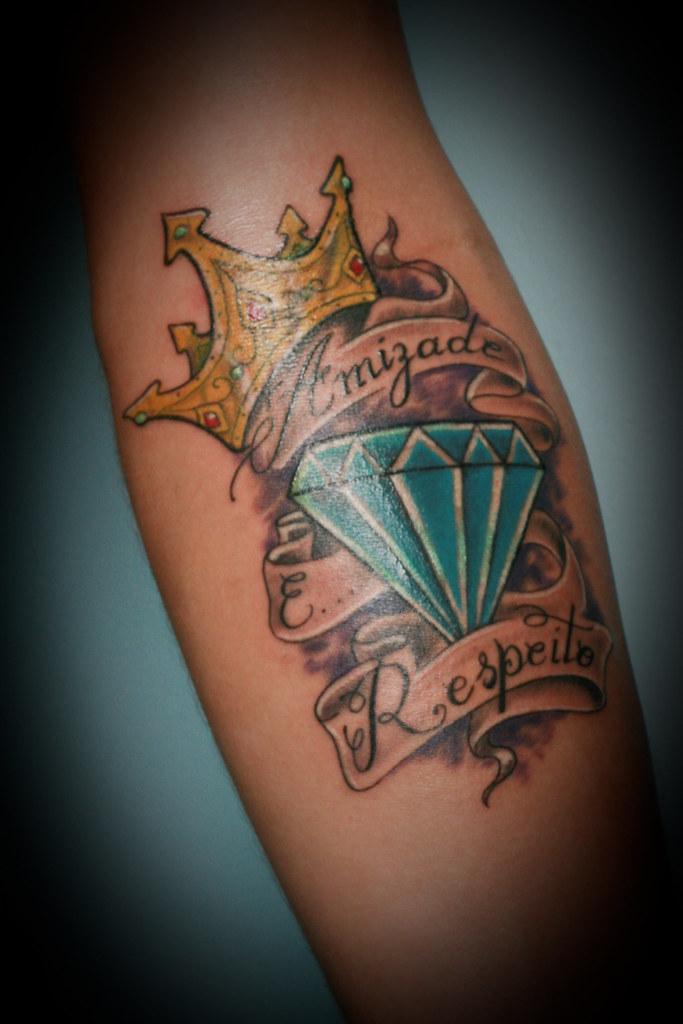 Populares Amizade E Respeito - Nahuel, Diamante Tattoo | é, fiz mai… | Flickr GK94