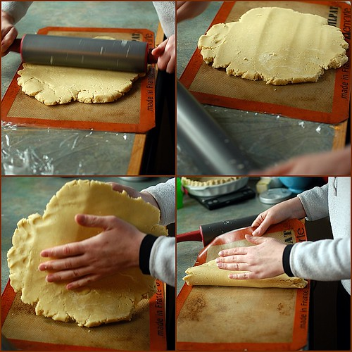 Helen rolls out the gluten-free puff pastry | by shauna | glutenfreegirl