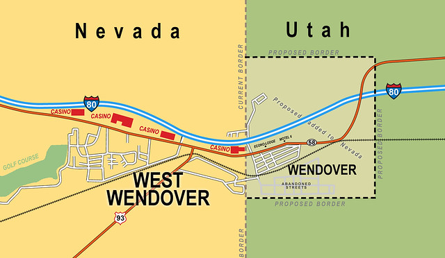 Wendover nevada casinos map