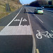Scotswood Road cycle path and on-road cycle way