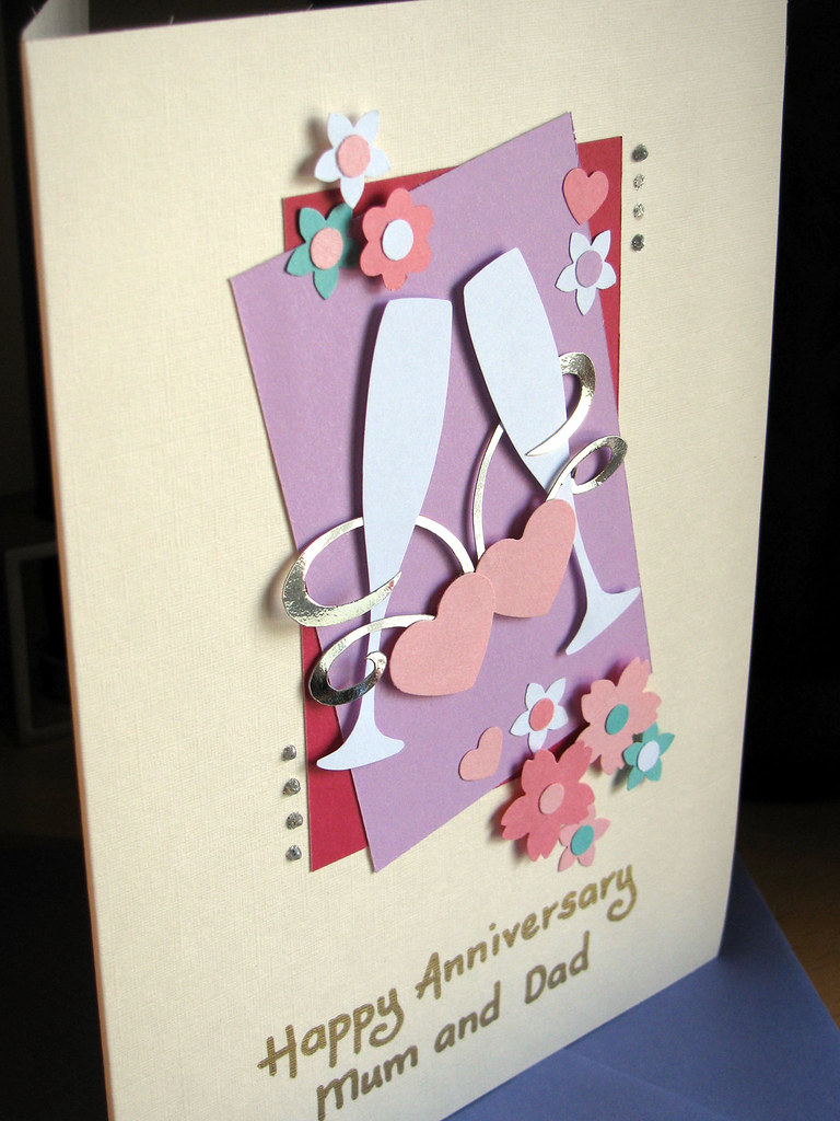 Handmade happy anniversary cards for parents