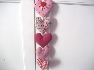Decorative Hearts Made From The Ikea Cath Kidston Duvet