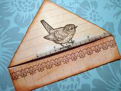 Rustic Robin bookmark | by misseskwittys