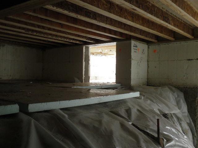 Lakeside green cottage timber frame home icf basement 2 for Icf basement