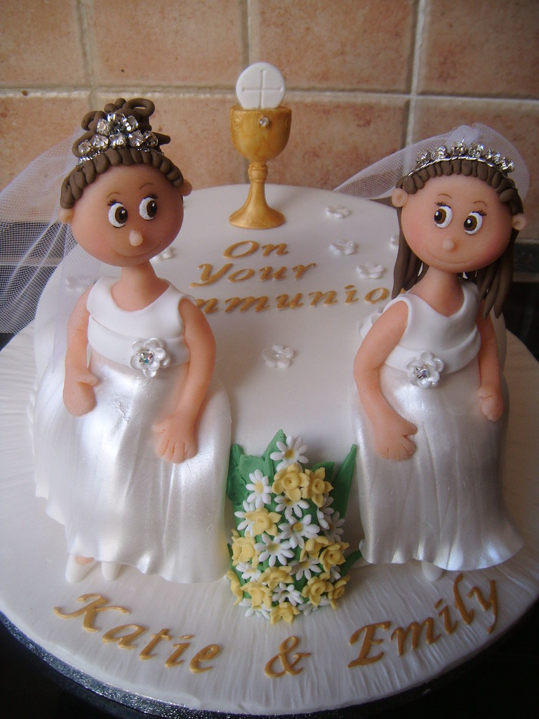 Twins Communion Cake This Was A Cake Done For Twins Who