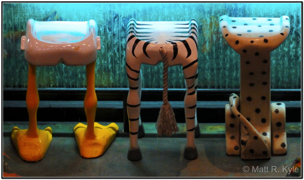 Animal Themed Bar Stools At The Mgm Grand Rain Forest