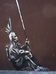 banksy - native indian - 4 | by Eva Blue