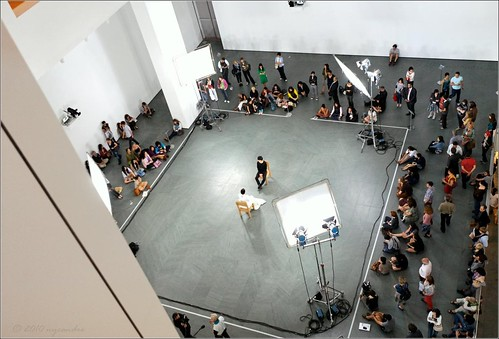 Marina Abramovic present-ing at the MoMA | by NYCandre