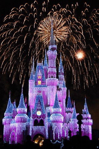 cinderellas castle magic kingdom the wishes nighttime