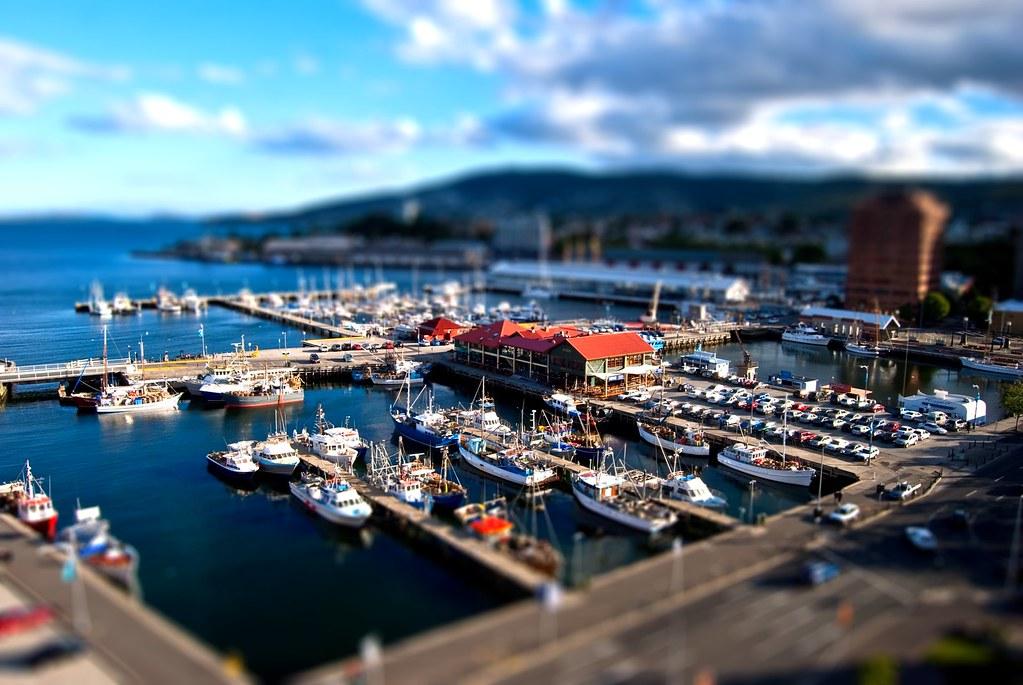 """Constitution Dock, Hobart Wharf, Tasmania"" by James ...  |Constitution Dock Hobart"